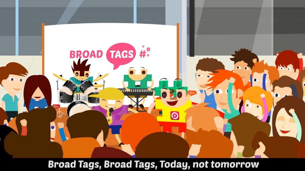 BroadTags Animated Music Video by Net3marketing